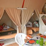Tente Lodge nature Canada 2 chambres | Camping Chapelains Drome