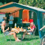 Camping chapelains vintage trailer tent drome saillans