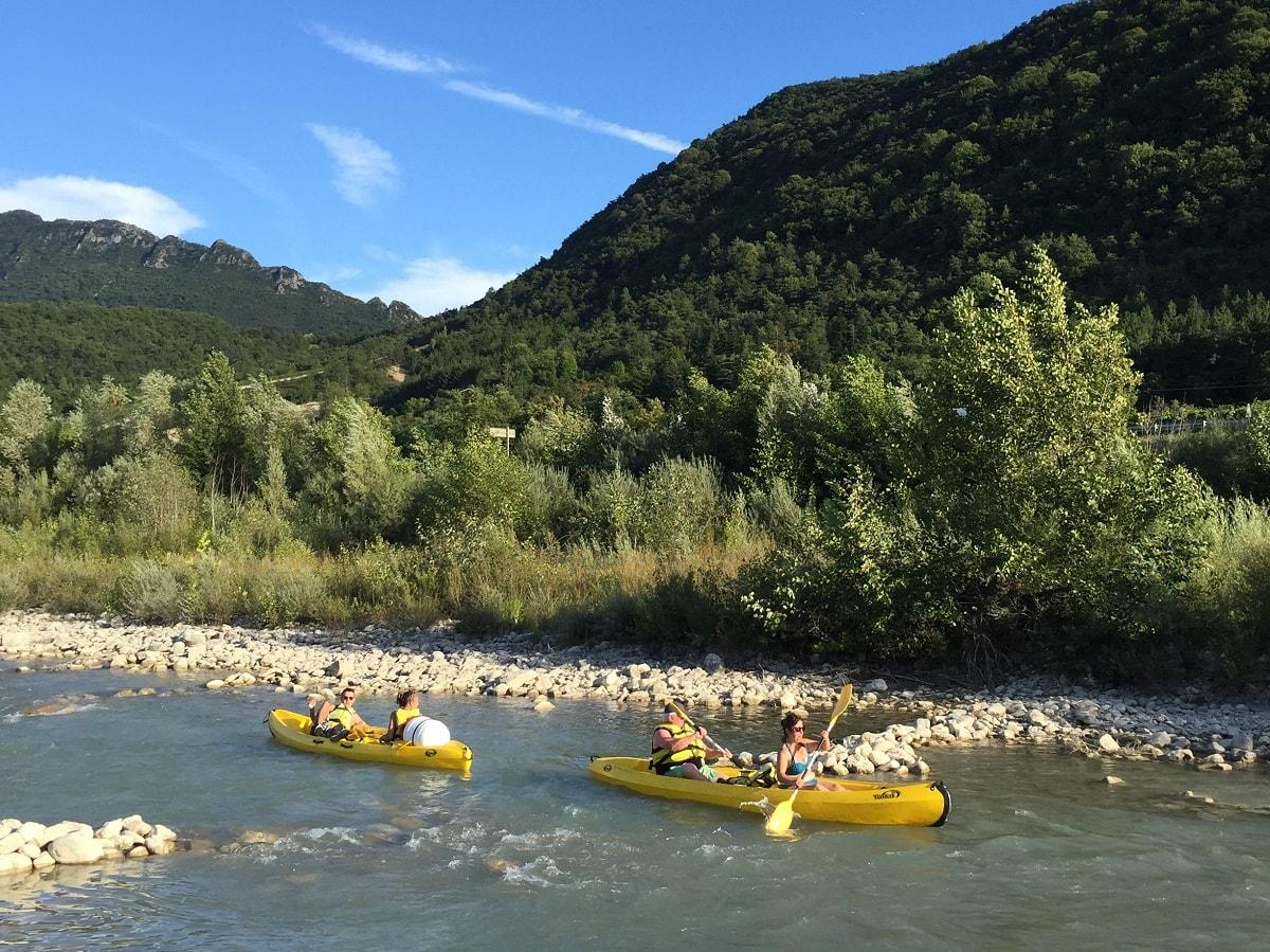 Rivière Drôme canoe kayak naturelle canoe kayak | Camping Chapelains Drome
