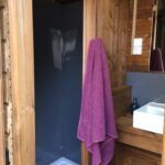 Premium camping pitch with private sanitary